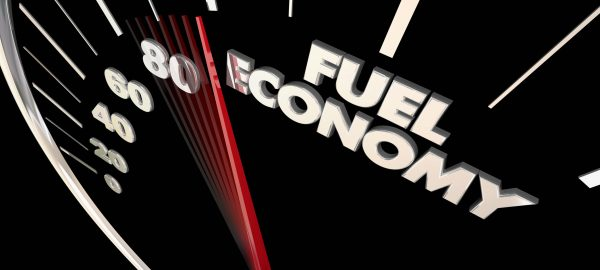 Fuel Economy Best Miles Per Gallon Efficiency Speedometer Word 3d Illustration