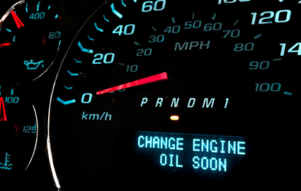 change engine oil alert